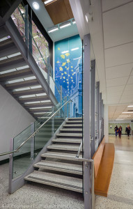 Preclinical Science Building monumental stair, Georgetown University